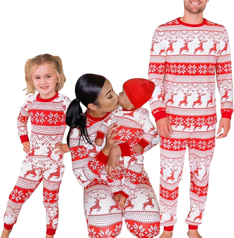 Christmas Family Pajamas Matching Sets, Christmas Pjs for Family Long Sleeve Sleepwear Tops and Pants