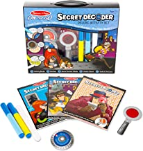 Melissa & Doug On the Go Secret Decoder Deluxe Activity Set (Mystery Super Sleuth Toy, 50+ Activities, Great Gift for Girls and Boys - Best for 7, 8, and 9 Year Olds)