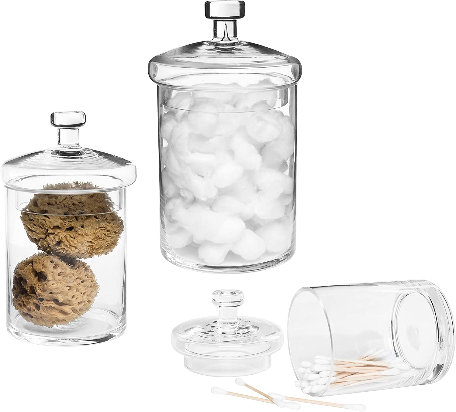 MyGift Decorative favorite Clear Glass Cylinder Jars Apothecary Challenge the lowest price of Japan ☆ w Storage