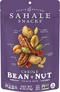 Sahale Snacks Creole Bean + Nut Snack Mix, 4 Ounces (Pack of 6)