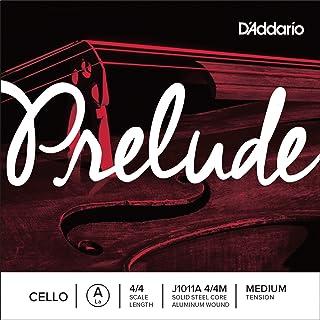 D`Addario Prelude Cello Single Aluminum Wound A String, 4/4 Scale, Medium Tension