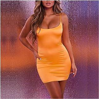 0fb6594aad2c Dresses Woman Party Night Summer Sexy Clubwear Stretch Satin Mini Dress Low  Cut Backless Bodycon