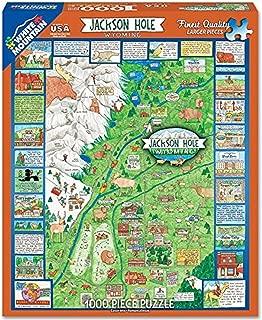 White Mountain Puzzles Jackson Hole Wy Jigsaw Puzzle- 1000 Piece Jigsaw Puzzle