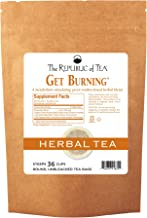 The Republic of Tea Green Rooibos Tea - Get Burning - Herbal Tea For Metabolism, 36 Tea Bag Refill