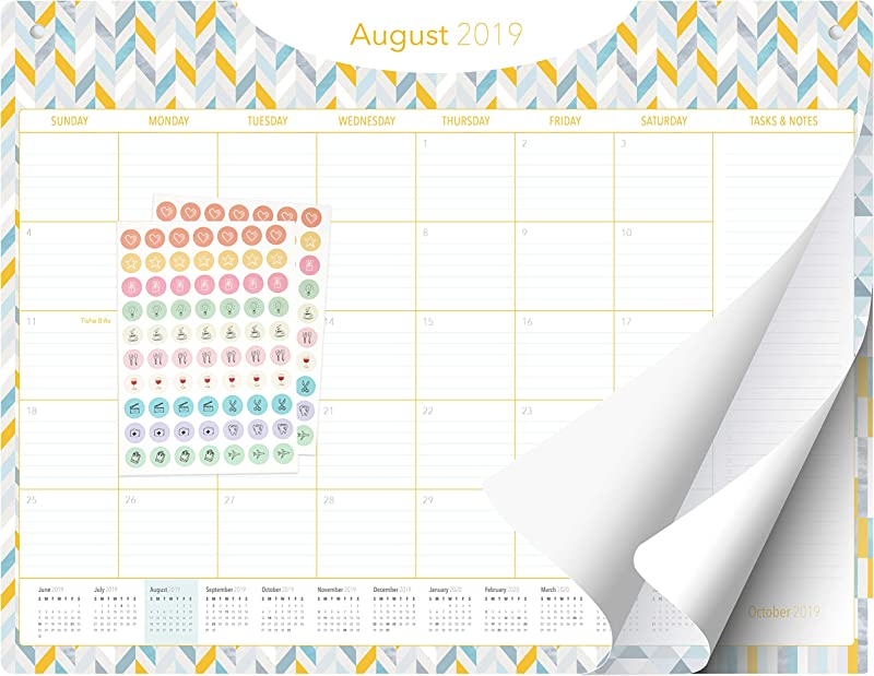 Desk Calendar 2019 2020 Large Monthly Planner 22 X17 Pages Business Office Academic Family Or Teacher Desk Wall Calendar Pad Geometric