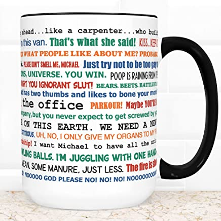 The Office TV Show Coffee Mug | Microwave and Dishwasher Safe Ceramic Funny Cup