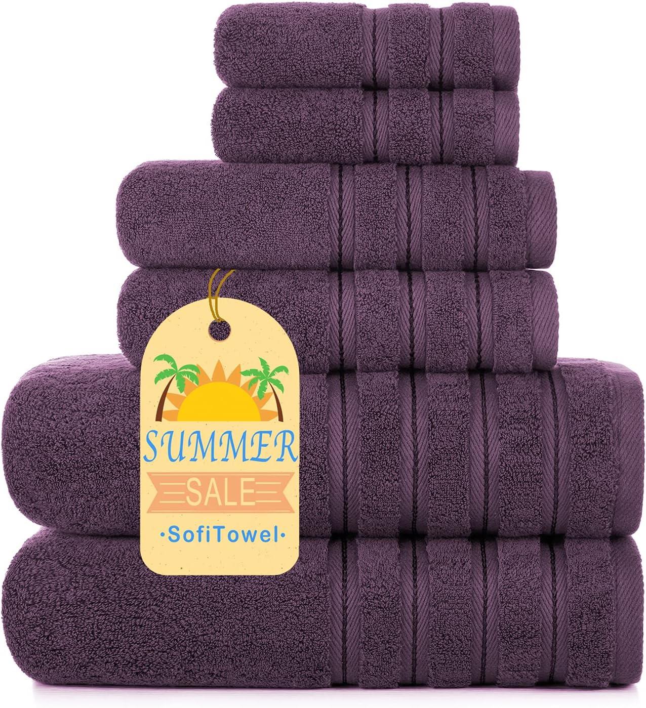 Sofi Towel Luxury Turkish Bath Fluffy Towels Set Piece 新作製品 ショップ 世界最高品質人気 6