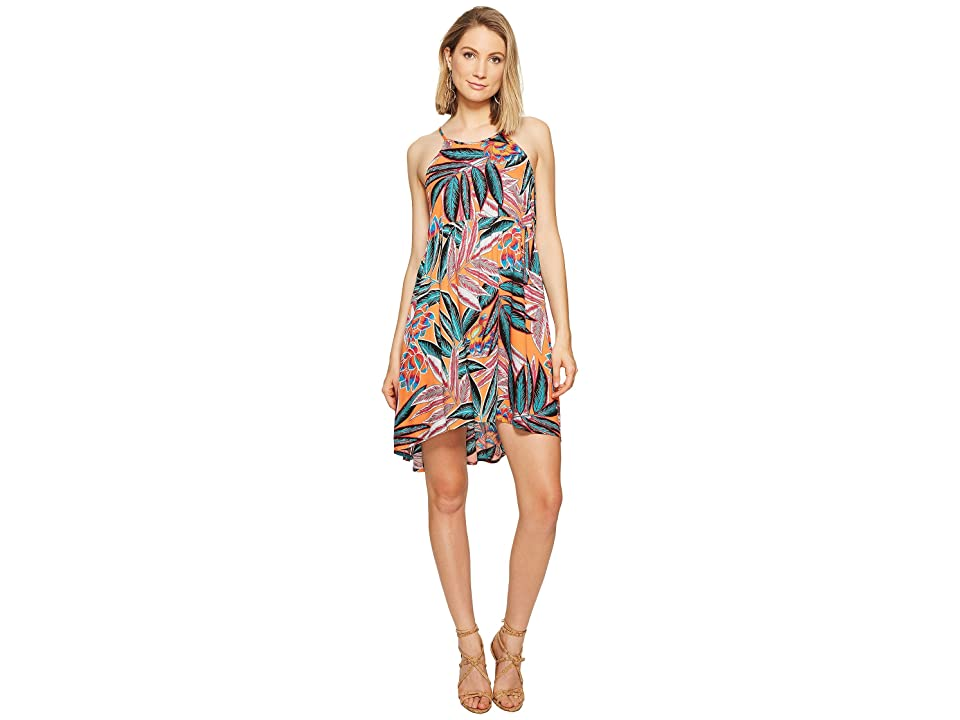 Jack by BB Dakota Farrow Jungle Sunrise Printed Rayon Crepe Dress (Orange Bloom) Women