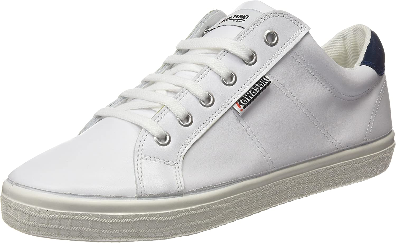 Kawasaki Badmin Leather, Unisex Adults' Trainers White