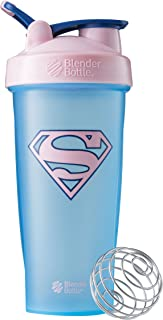 BlenderBottle Justice League Superhero Classic 28-Ounce Shaker Bottle, Supergirl