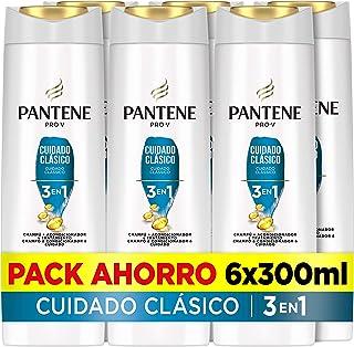 Pantene Pro-V Cuidado Clásico Champú Acondicionador Y Tratamiento 3En1 Pelo De Aspecto Sano Y Brillante 6 x 300ml