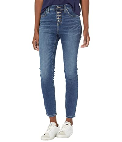 Jag Jeans Valentina Skinny Pull-On Jeans with Faux Button Fly