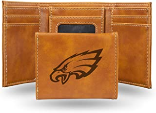 NFL Rico Industries Laser Engraved Trifold Wallet, Philadelphia Eagles