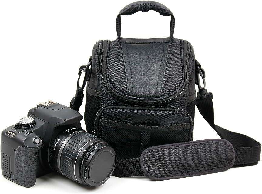 Protectora Negro Resistente Al Agua Resistente Funda De Transporte–Compatible con la Panasonic Lumix dc-fz82Cámara–por DURAGADGET