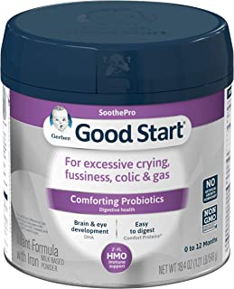 Gerber Good Start Soothe (HMO) Non-GMO Powder Infant Formula, Stage 1, 19.4 Ounce (Pack of 6)