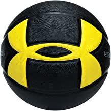 Under Armour 295 Indoor/Outdoor Basketball, Official/Size 7, Black/Yellow