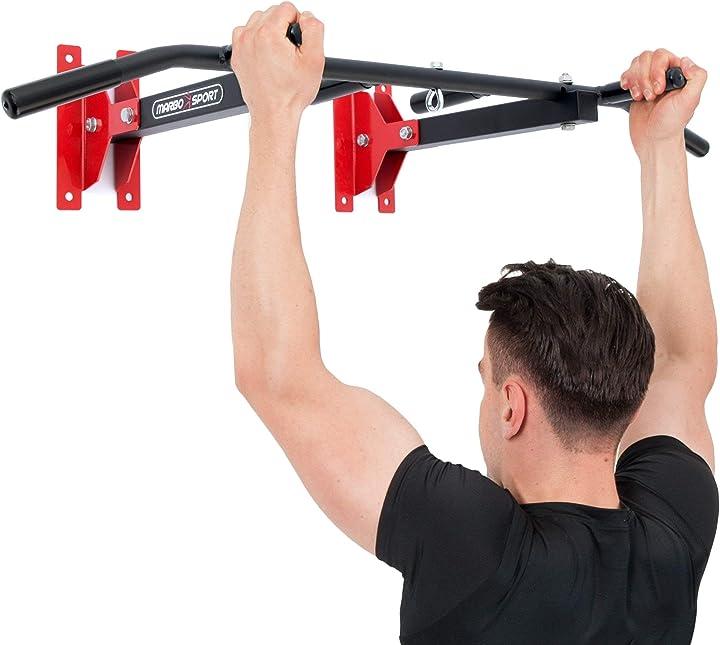 Sport sbarra per trazioni a muro o soffitto barra trazioni 2 in 1 mh-d202 2.0 marbo 103314-TR