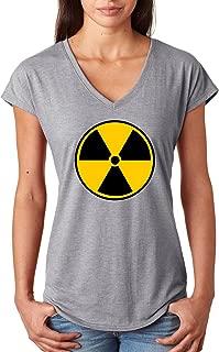 Buy Cool Shirts Ladies Radiation T-Shirt Radioactive Fallout Symbol Tri V-Neck