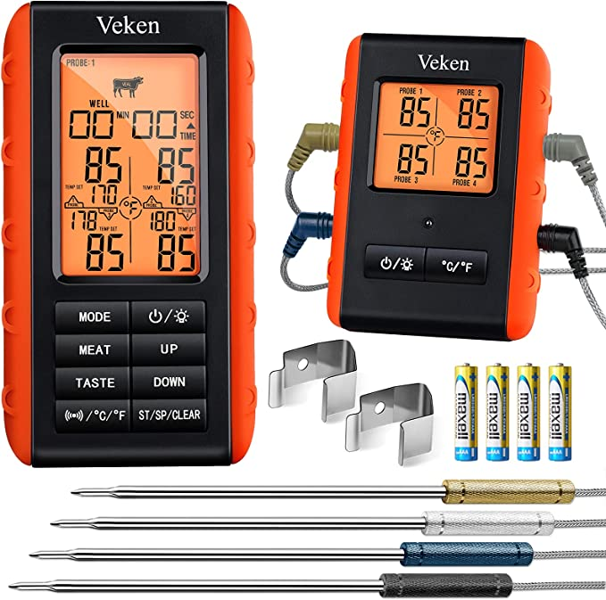 Veken Wireless Meat Thermometer - Compact and Accurate