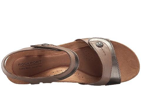 Leatherkhaki Hollywood Leatherwhite Rockport Sandale Leathertan Cuir Deux Noir Collection Colline Pièces Cobb O4Ogqxw