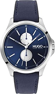 Hugo Boss Men'S Blue Dial Blue Leather Watch - 1530121