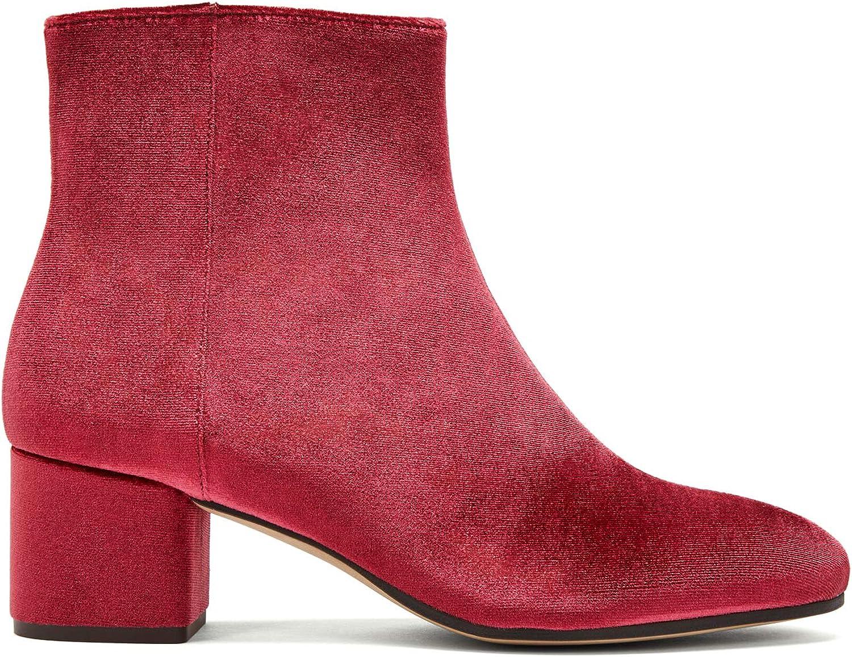 NINE TO FIVE Ankle Stiefel  Strand Strand rot Velvet  billig und Mode