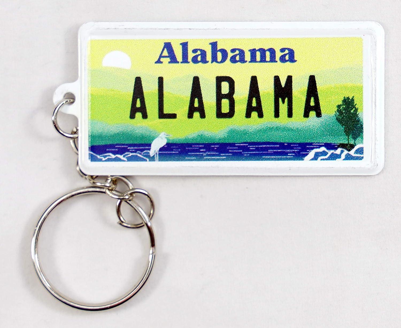 Alabama License Plate Aluminum Ultra-Slim Rectangular Souvenir Keychain 2.5