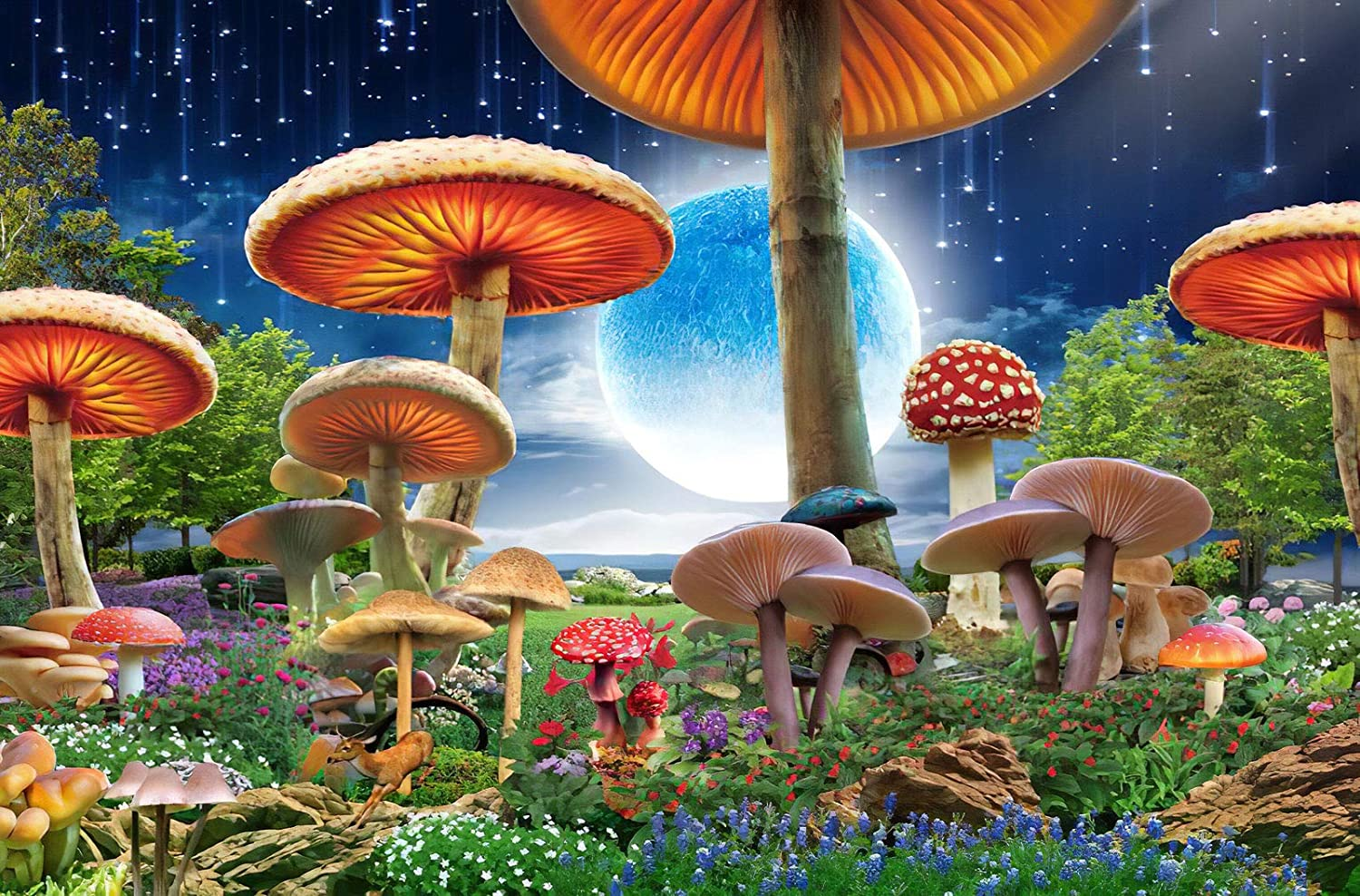 Agirlgle Jigsaw Puzzles 1000 Pieces for Adults for Kids, Mushrooms Jigsaw Puzzles - 1000 Pieces Jigsaw Puzzles,Softclick Technology Means Pieces Fit Together Perfectly