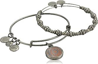 Alex and Ani Women's Cosmic Balance Wood Charm Bracelet Set of 2