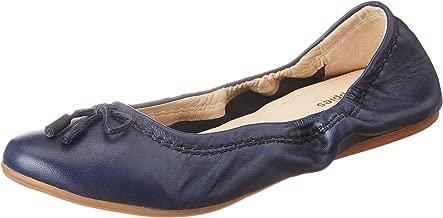 Hush Puppies Women's Lexa Heather Bow Blue Leather Ballet Flats - 3 UK/India (36 EU)(5549972)