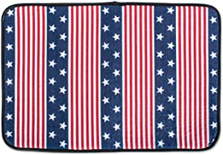 (Small, Stars and Stripes) - DII Bone Dry Small Microfiber Pet Mat for Food, Water, Treats, Ultra-Absorbent & Machine Washable Food Mat for Dogs and Cats