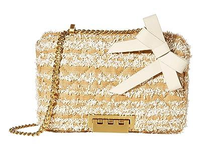 ZAC Zac Posen Soft Earthette Medium Chain Shoulder Floral Color Block (Multi/Natural) Handbags