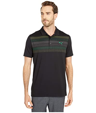 PUMA Golf Road Map Polo (PUMA Black) Men