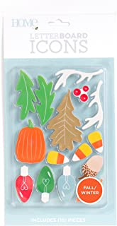 DCWVE Die Cuts with A View Icon Pack Letterboard-Fall/Winter (15 pcs) LP-006-00039