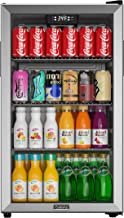 Galanz Beverage Refrigerator and Cooler – 130 Can Mini Fridge with Glass Door for Soda