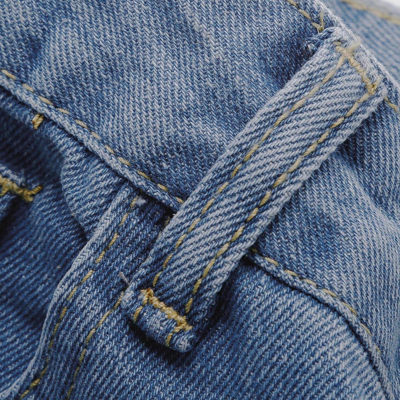 Larisalt Jeans for Women High Waist Straight, Women Baggy Boyfriends Jeans Solid Color Wide Leg Denim Pants Plus Size