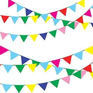 TSMD 750 Ft Multicolor Pennant Banners String Flag Banner, 600Pcs Nylon Fabric Pennant Flags for Grand Opening,Party Festivals Decorations