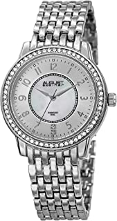 AS8246 Crystal Women's Watch – Designer Stainless Steel Band – Mother of Pearl Diamonds