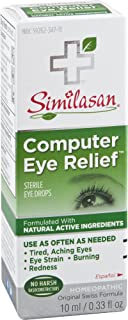 Similasan Computer Eye Relief Eye Drops .33-Ounce Bottles (Pack of 3), for Temporary Relief from Tired Eyes, Aching Eyes, Eye Strain, Burning or Redness from Computer Use