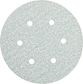 Norton 3X High Performance Hook and Sand Paper Discs with 6 Hole, Ceramic Alumina, 6