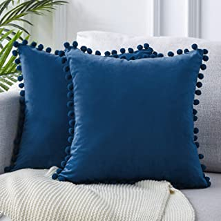 Navy Blue Pillow Covers Damask Pillows Decorative Pillow Slipcover Cushion Covers