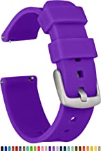 GadgetWraps 20mm Gizmo Watch Silicone Watch Band Strap with Quick Release Pins – Compatible with Gizmo Watch, Amazfit, Samsung, Pebble – 20mm Quick Release Watch Band (Medium Purple, 20mm)