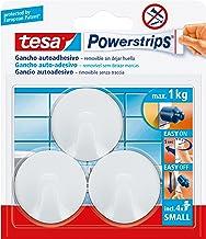Tesa Powerstrips, 57577–00001-01, klein, zelfklevend, rond, wit