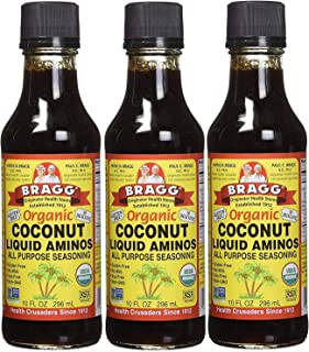 Bragg Coconut Aminos, All Purpose Seasoning, 10 Oz Pack of Three