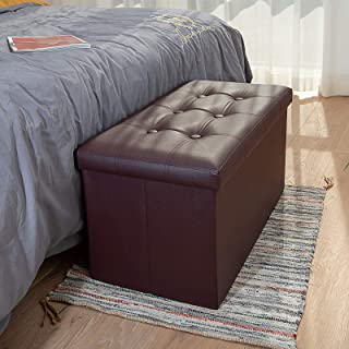 COSYLAND Ottoman Bench with Storage 30x15x15 inches Brown...