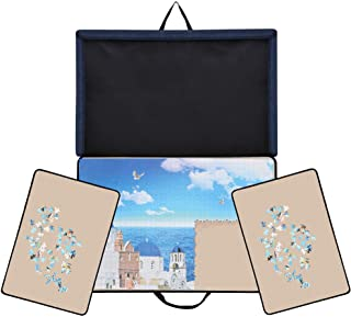 Becko Jigsaw Puzzle Board Portable Puzzle Case Puzzle Storage Puzzle Saver, Non-Slip Surface, for Up to 1000 Pieces (Dark ...