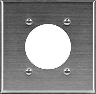 ENERLITES Electrical Dryer and Range Oven Receptacle Outlet Metal Wall Plate, 2.125