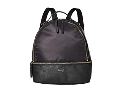 Lipault Paris Small Backpack (Jet Black/Light Gold) Backpack Bags