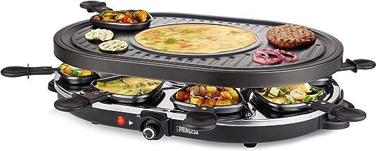 Princess 162700 Oval Grill Party Gourmetstel – Speciaal crêpegedeelte – 8 personen
