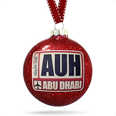 NEONBLOND Christmas Decoration Airportcode AUH Abu Dhabi Ornament